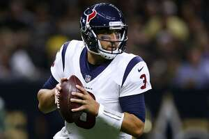 NEW ORLEANS, LA - AUGUST 26:  Tom Savage #3 of the Houston Texans throws the ball during the first half of a preseason game against the New Orleans Saints at the Mercedes-Benz Superdome on August 26, 2017 in New Orleans, Louisiana.  (Photo by Jonathan Bachman/Getty Images)