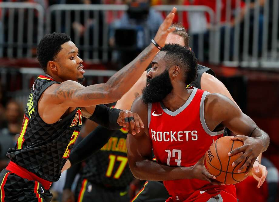 PHOTOS: Twitter reactions when James Harden made the Clippers' Wes Johnson fall down in 2018 Kent Bazemore is the man usually assigned to try to slow down James Harden whenever the Hawks play the Rockets. Bazemore had a tough time with the assignment Tuesday night in Atlanta. Browse through the photos above to flashback to the time James Harden made the Clippers' Wes Johnson fall to the ground ... Photo: Kevin C. Cox/Getty Images