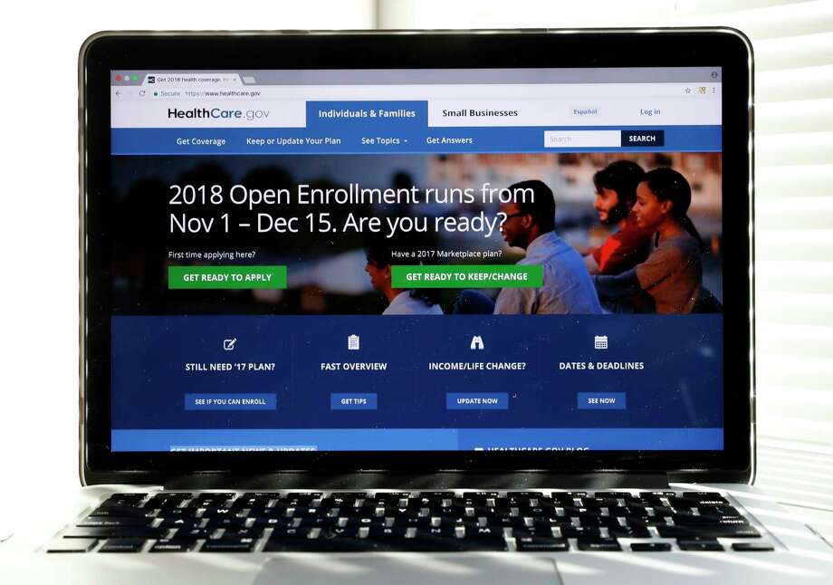 The Healthcare.gov website is seen on a computer screen in Washington. Efforts to undercut the ACA may have broad, unintended consequences, a survey finds.  Photo: Alex Brandon, STF / Copyright 2017 The Associated Press. All rights reserved.