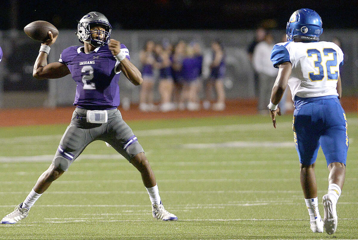 2. Port Neches-Groves (8-0) This Week: The Indians got five more touchdowns from quarterback Roschon Johnson and 160 receiving yards from Cameron Stansbury in a 48-0 victory over Ozen. The Indians can win the outright District 22-5A title with a win over Nederland next week. Next: plays at No. 7 Nederland