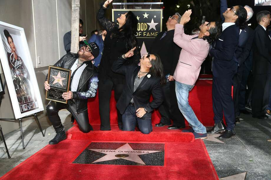 HOLLYWOOD, CA - NOVEMBER 03:  Selena's band mebers attend a ceremony honoring Selena Quintanilla with a star on The Hollywood Walk Of Fame on November 3, 2017 in Hollywood, California.  (Photo by Tommaso Boddi/WireImage) Photo: Tommaso Boddi/WireImage
