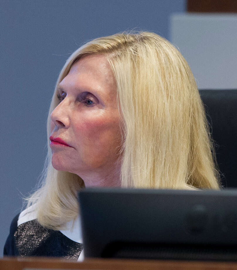 Ann Snyder, treasurer of The Woodlands Township Board of Directors, is seen during a meeting, Thursday, April 26, 2017, in The Woodlands. Photo: Jason Fochtman, Staff Photographer / © 2017 Houston Chronicle