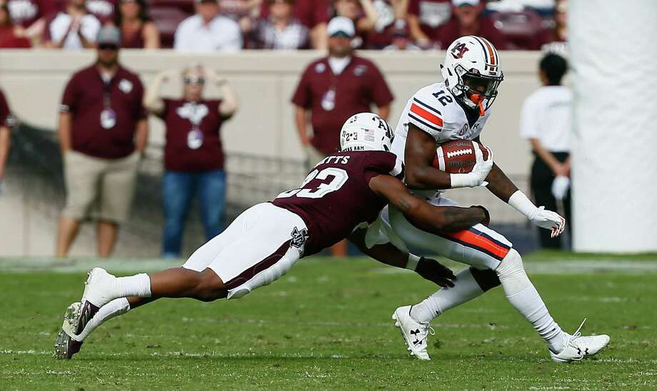Texas A&M safety Armani Watts (23) will miss Friday's Belk Bowl with a rib injury. Photo: Bob Levey, Getty Images / 2017 Getty Images