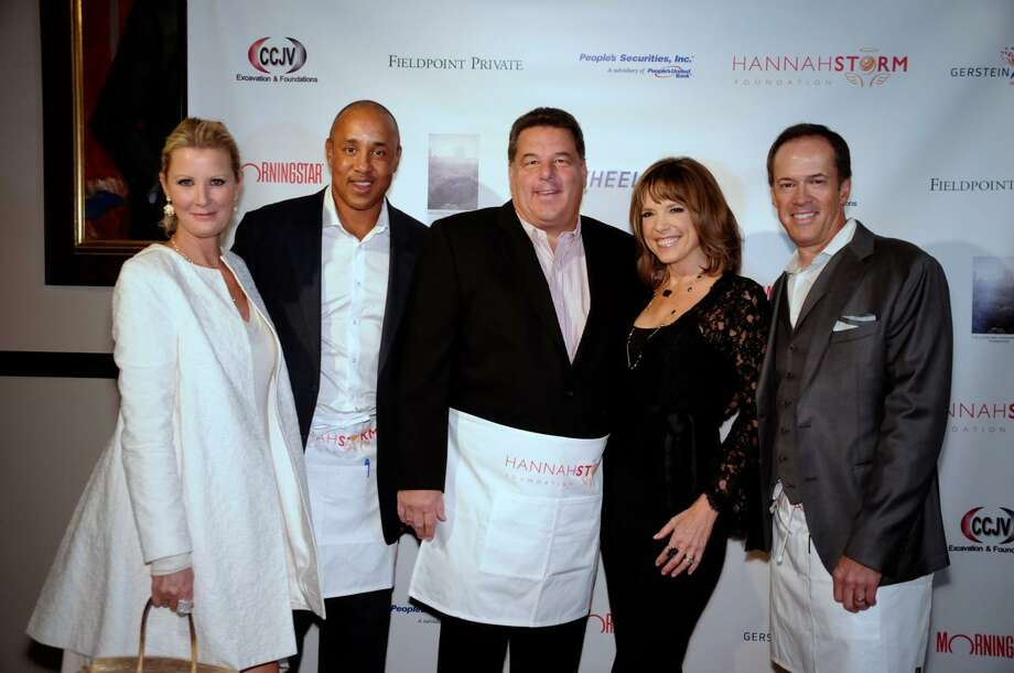 Sandra Lee, John Starks, Steve Schirripa, Hannah and Dan Hicks at the 2017 Hannah Storm Foundation Celebrity Waiter Night at the NY Athletic Club on Oct. 17. Photo: Contributed