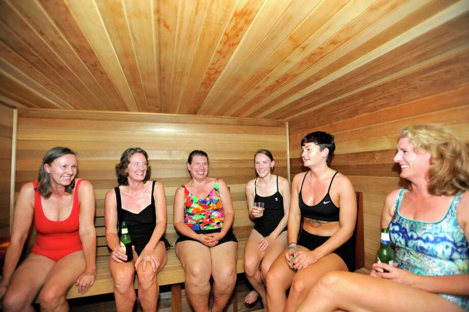 A long-term study has shown that those who use the sauna almost daily have lower blood pressure than those who use it less frequently. Photo: Michael Cummo, Staff Photographer / Stamford Advocate