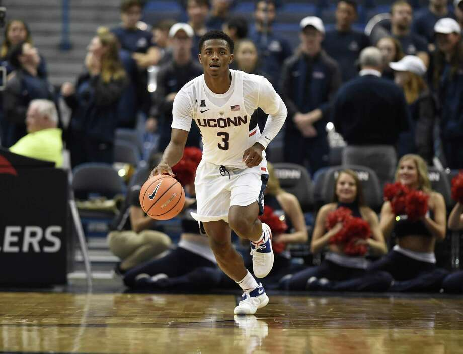 Alterique Gilbert and UConn will look to improve their shooting in their final exhibtion game on Sunday. Photo: Jessica Hill / Associated Press / AP2017