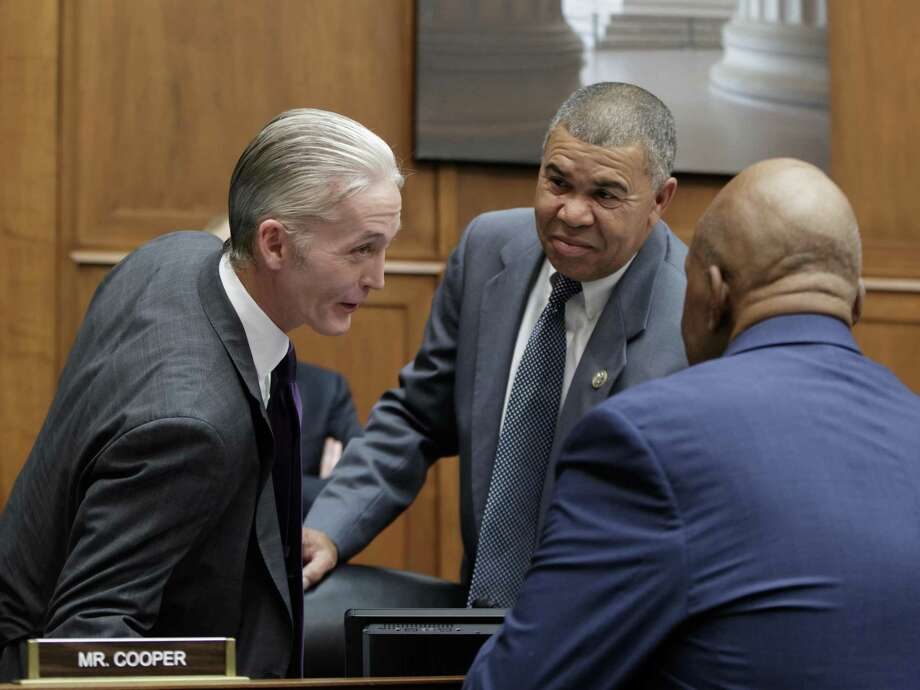 "From left, Rep. Trey Gowdy, R-S.C., chairman of the Committee on Oversight and Government Reform, confers with Rep. William Lacy Clay, D-Mo., and Rep. Elijah Cummings, D-Md., the ranking member, before the start of a hearing on preparations for the 2020 Census, on Capitol Hill in Washington, Thursday, Oct. 12, 2017. The Trump administration acknowledged on Thursday that billions more dollars are ""urgently needed"" to ensure a fair and accurate count during the 2020 Census. (AP Photo/J. Scott Applewhite) Photo: J. Scott Applewhite, STF / Associated Press / Copyright 2017 The Associated Press. All rights reserved."