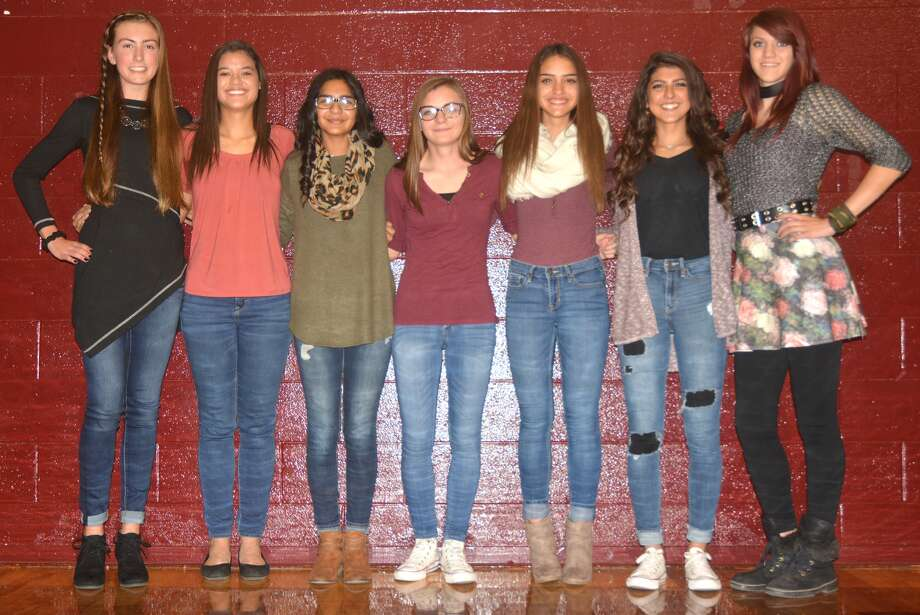 The Tulia girls' cross country team finished second at the UIL Class 3A state meet at Old Settlers Park in Round Rock Saturday afternoon. Members of the team are, from left, Myla Marnell, Jasmine Aguilar, Lluvia Briones, Alexis Trammell, Reylee Rodriquez, Ivy Guerra and Ember Reed. Photo: Skip Leon/Plainview Herald