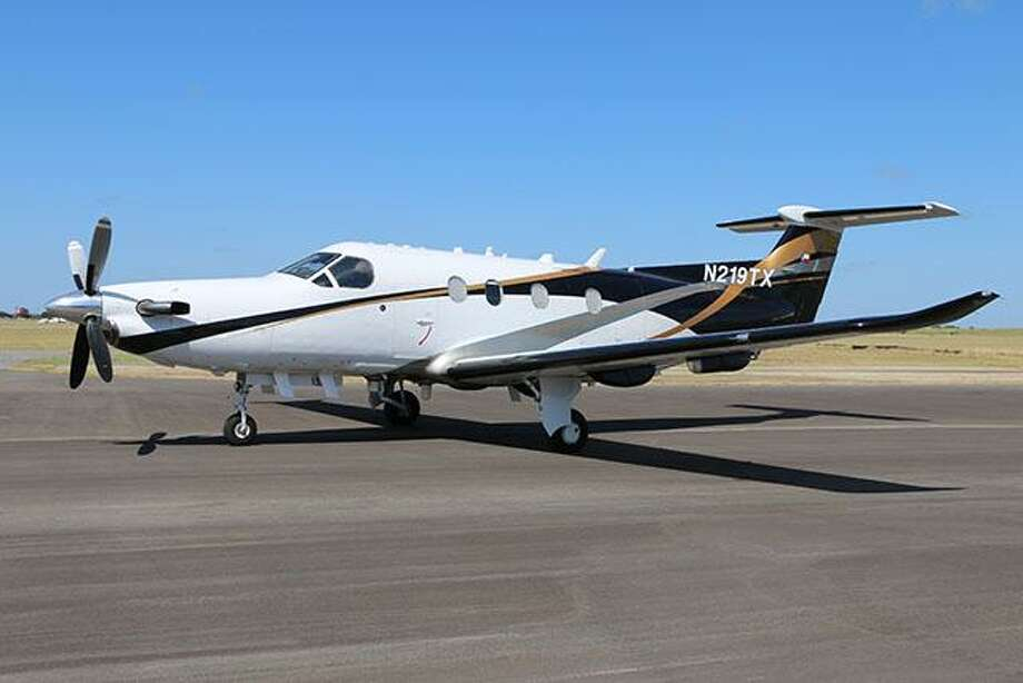 Texas Department of Public Safety dedicated this Pilatus PC-12 NG Spectre on June 27, 2017, in honor of Trooper Ernesto Alanis, who was killed by a drunk driver while he was making a traffic stop near McAllen in February 1983. The high-performing plane, which was purchased with state funds in 2016 and began operations in January 2017, is one of more than 20 aircraft owed by DPS. Photo: Courtesy / Texas Department Of Public Safety