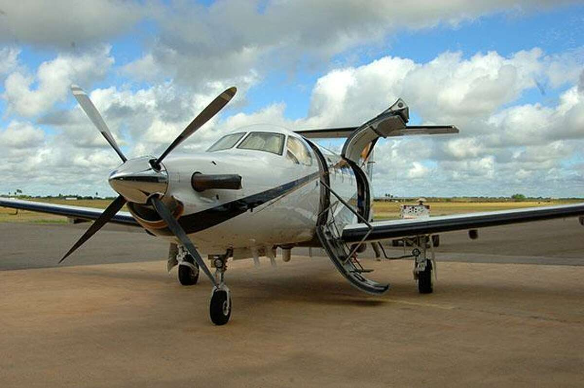 This Pilatus PC-12 NG Spectre, purchased by Texas Department of Public Safety for border security, was dedicated in June 2017 in honor of Trooper Ernesto Alanis, who was killed by a drunk driver while making a traffic stop near McAllen in February 1983. The plane, one of the most advanced, features state-of-the-art imaging system and other equipment. It's based in Edinburg but is used across the state.