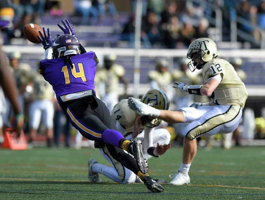 Westhill defeated Trumbull 29-21 in a FCIAC boys football game at Westhill High School in Stamford, Connecticut on Saturday, Nov. 4, 2017. Photo: Matthew Brown, Hearst Connecticut Media / Stamford Advocate