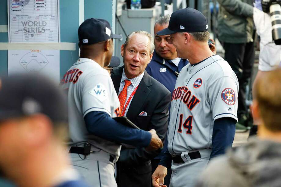 Astros owner Jim Crane had the last laugh after taking heat for having a low payroll in years past. Photo: Karen Warren, Houston Chronicle / © 2017 Houston Chronicle