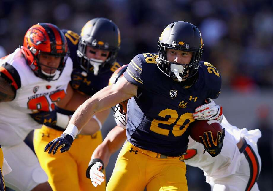 BERKELEY, CA - NOVEMBER 04:  Patrick Laird #28 of the California Golden Bears runs with the ball against the Oregon State Beavers at California Memorial Stadium on November 4, 2017 in Berkeley, California.  (Photo by Ezra Shaw/Getty Images) Photo: Ezra Shaw, Getty Images