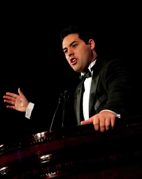 FILE - In this May 15, 2008 file photo, Yon Goicoechea speaks before accepting the Milton Friedman Prize for Advancing Liberty in New York. Venezuela's government has released two prominent opposition activists it has held for more than a year without trial, one of them a Spanish citizen, as President Nicolas Maduro looks to ease international pressure following months of unrest.  Goicoechea and Delson Guarate were freed late Friday, Nov. 3, 2017,  from a Caracas jail, but continue to be bound by restrictions on their movement and speech, according to lawyers' co-op Foro Penal.  (AP Photo/Seth Wenig) Photo: Seth Wenig, STF / Copyright 2017 The Associated Press. All rights reserved.