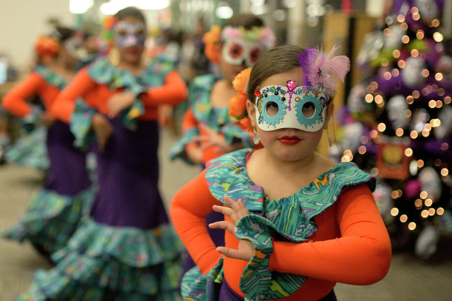 Dia de los Muertos celebration hosted by the Hispanic Cultural Center of Midland and the Midland County Public Library on Nov. 4, 2017, at the Midland County Public Library downtown branch. James Durbin/Reporter-Telegram Photo: James Durbin