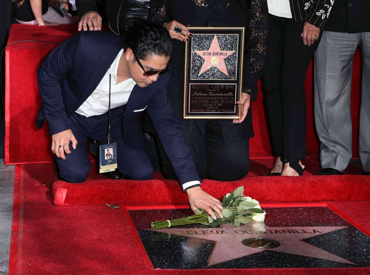 Selena Quintanilla Honored Posthumously With Star On The Hollywood Walk Of Fame HOLLYWOOD, CA - NOVEMBER 03: Musician/Selena's widower Chris Perez attends singer Selena Quintanilla being honored posthumously with a Star on the Hollywood Walk of Fame on November 3, 2017 in Hollywood, California. (Photo by David Livingston/Getty Images)