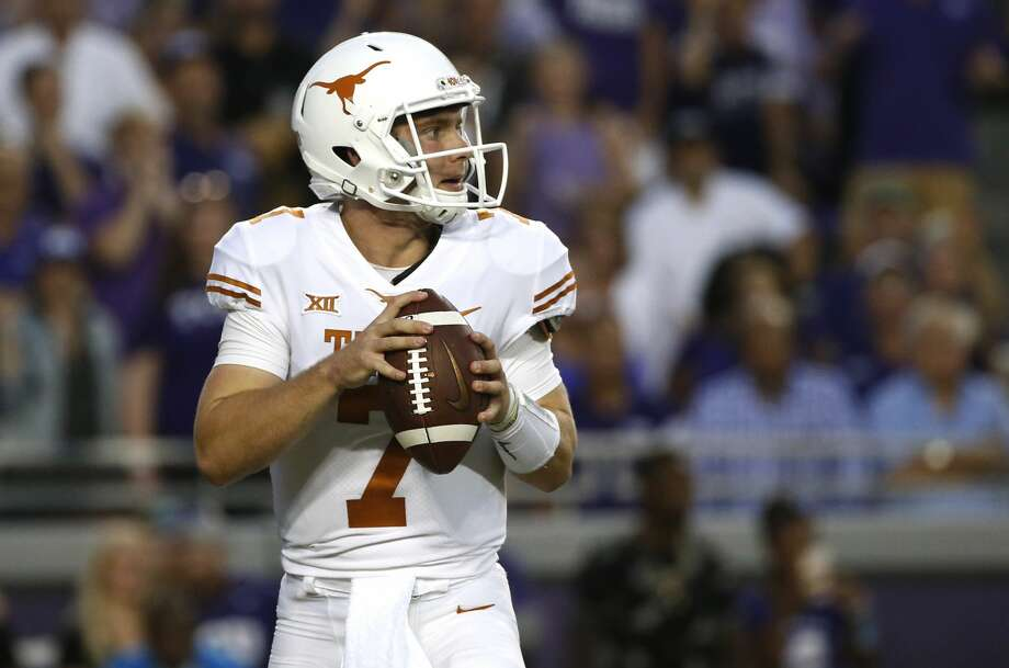 Shane Buechele will start at quarterback for Texas on Saturday, but Sam Ehlinger is expected to play, too. Photo: Ron Jenkins/Associated Press
