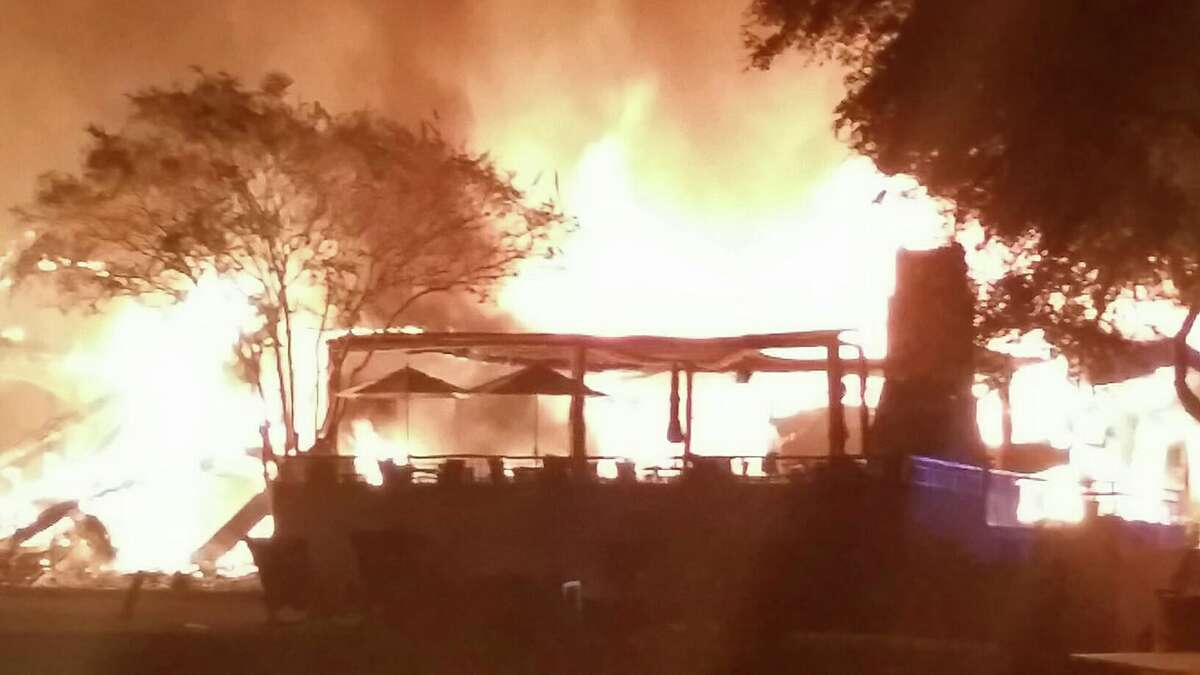A fire destroyed the club house at Tapatio Springs Resort Saturday, Nov. 4, 2017.