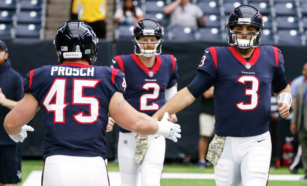 Tom Savage (3) once again will be the starting quarterback on Sunday when the Texans face the improved Los Angeles Rams. SLIDESHOW: The Chronicle's John McClain previews Sunday's game and gives his prediction.
