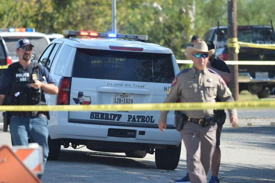 A mass shooting at First Baptist Church in Sutherland Springs near San Antonio has killed more than 20 Sunday Nov. 5, 2017. Photo: Caleb Downs