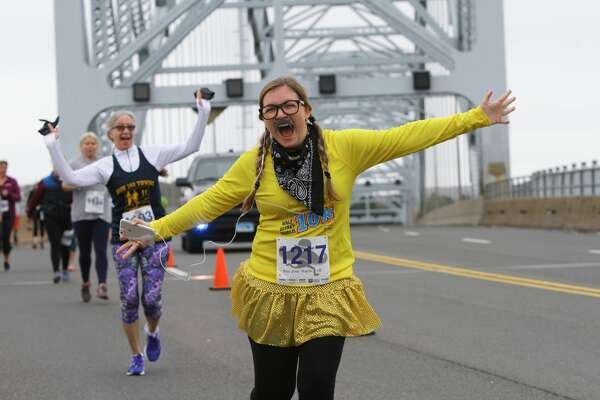 The Hartford Marathon Foundation Movember 5K began near Brownstone Quarry in Portland and made its way over the Arrigoni Bridge and the Connecticut River to the Mattabesett Canoe Club in Middletown Sunday. In addition to division prizes, awards were given out to those with the best mustache costumes.
