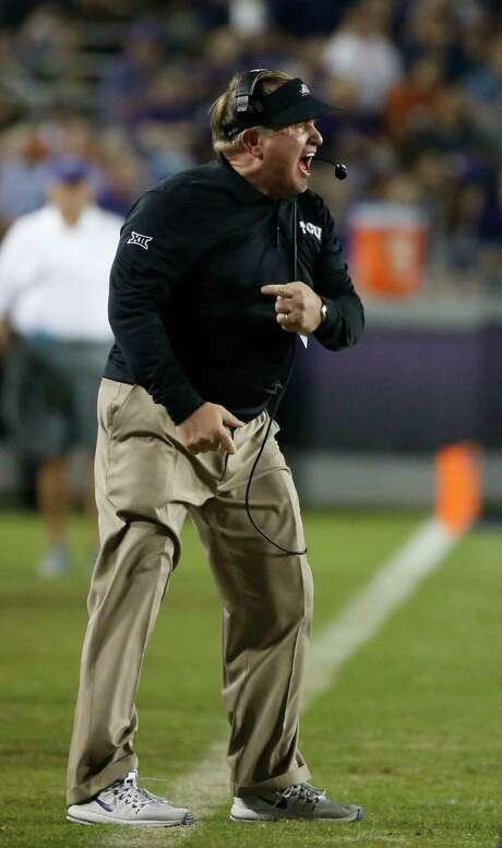 Even though his team is 8-1, TCU coach Gary Patterson knows the road to the Big 12 title game won't be easy. Photo: Ron Jenkins, FRE / FR171331 AP