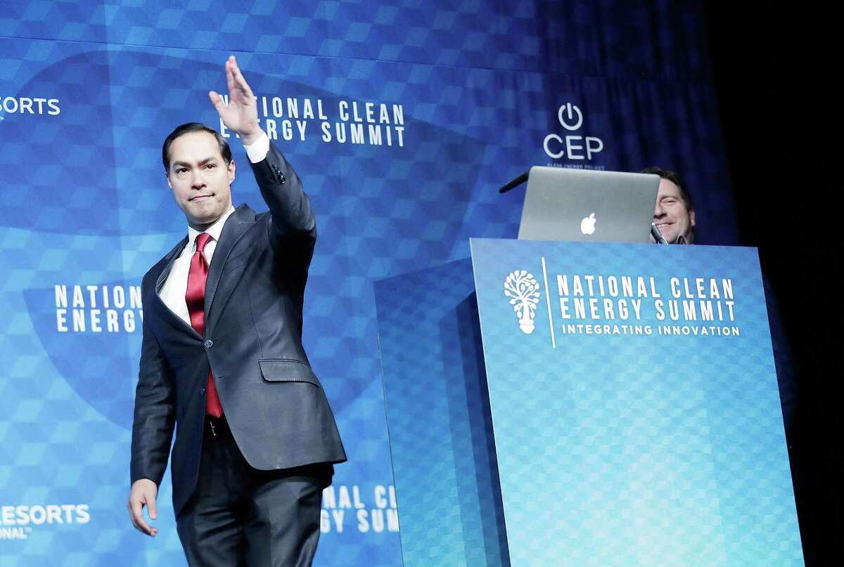 Julián Castro, the secretary of the U.S. Department of Housing and Urban Development under President Barack Obama and former mayor of San Antonio, said the country needs a very different president than what is in office now. He's shown at an Oct. 13 event in Las Vegas.