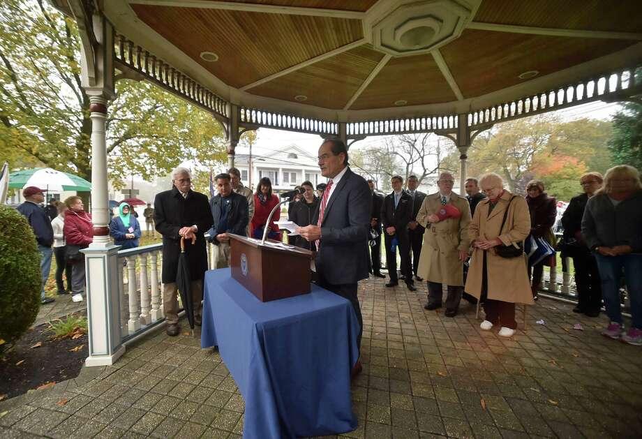 Milford,  Connecticut - Sunday, November 5, 2017:   A rainy Milford Veterans Day Parade. Photo: Peter Hvizdak, Hearst Connecticut Media / New Haven Register