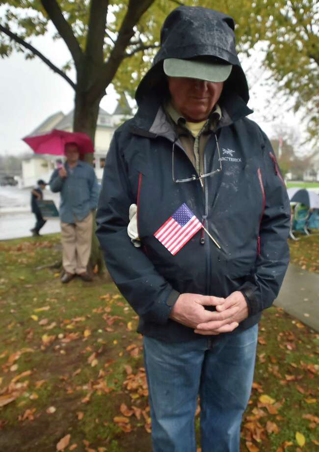 Milford,  Connecticut - Sunday, November 5, 2017:   A rainy Milford Veterans Day Parade. Photo: Peter Hvizdak, Hearst Connecticut Media / New Haven Register