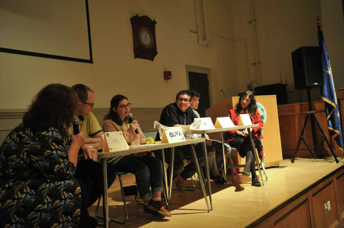 Four people with autism described their experiences Thursday evening during a panel discussion at Northwestern Connecticut Community College in Winsted.