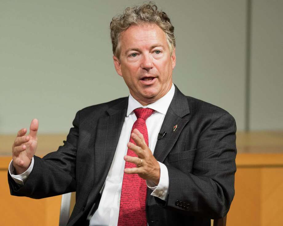 Sen. Rand Paul, R-Ky., left, was attacked at home by his next-door neighbor Rene Boucher, police say. Photo: Michael Brochstein, FILE / Sipa USA