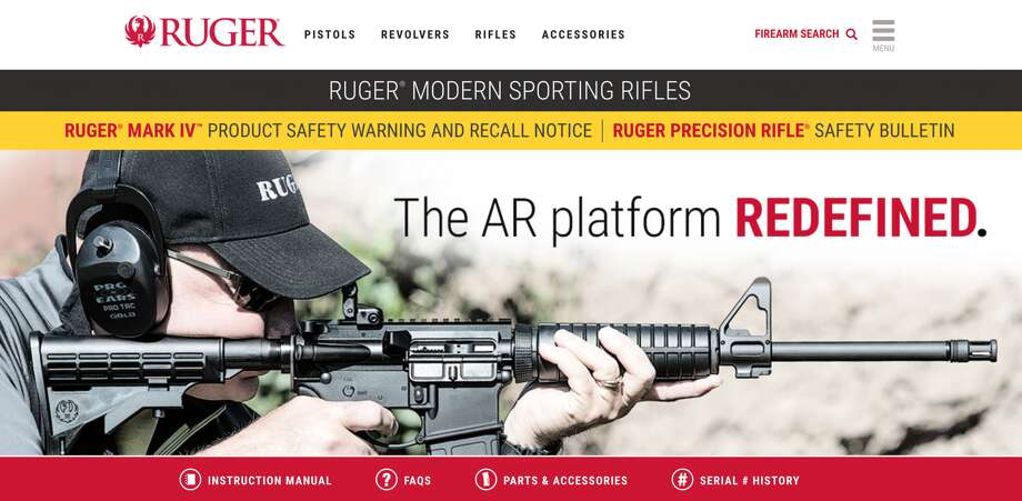 """The Texas Department of Public Safety told reporters that the man who shot and killed 26 people in Sutherland Springs used a Ruger """"AR style"""" rifle in the attack. Photo: Ruger"""