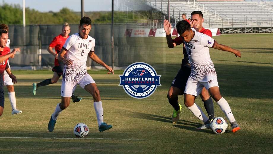 TAMIU's Luis Diaz, left, and Alan Rivera were named to the Heartland Conference All-Tournament Team announced Sunday. Photo: Courtesy Of TAMIU Athletics