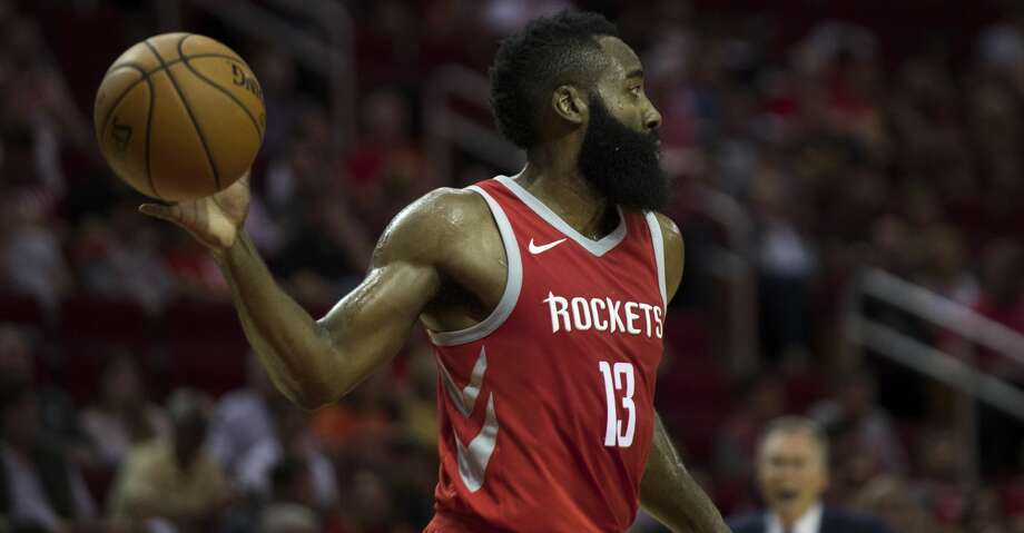 Houston Rockets guard James Harden (13) makes a pass during the game against the Utah Jazz, Sunday, Nov. 5, 2017, at the Toyota Center in Houston. Harden scored 56 points for the Rockets. ( Marie D. De Jesus / Houston Chronicle ) Photo: Marie D. De Jesus/Houston Chronicle