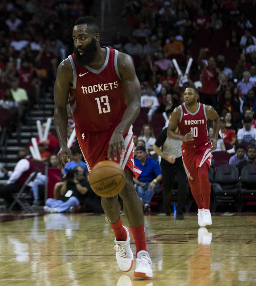 Houston Rockets guard James Harden (13) scored 56 points during the game against the Utah Jazz on Sunday, Nov. 5, 2017, in Houston. The Rockets won 137-110. ( Marie D. De Jesus / Houston Chronicle ) Photo: Marie D. De Jesus/Houston Chronicle
