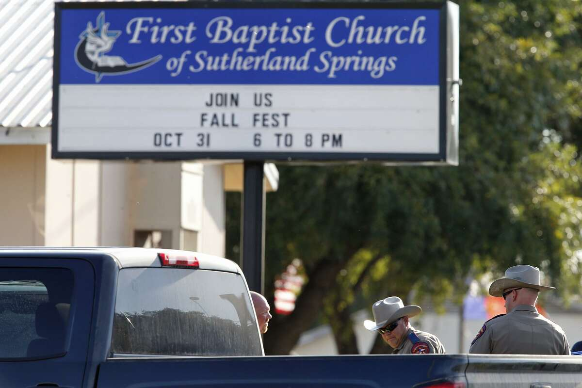 Some church leaders in Texas say they may allow church members to attend service with firearms after the mass shooting at First Baptist Church of Sutherland Springs that occurred on Nov. 5, 2017.See more photos from First Baptist Church in the gallery ahead.