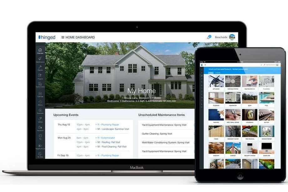 Westport company co-founders Tye Schlegelmilch, left, and Bill Green are expanding their cloud-based professional property management service into New York after launching in Fairfield County in January. Photo: Contributed Photo