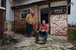 """Mike Wolfe and Frank Fritz, stars of History's hit show """"American Pickers,"""" will be in Texas in December and January looking for hidden treasures to feature on their show."""