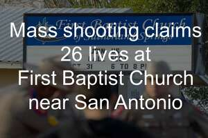 See images from the mass shooting that claimed 26 lives at First Baptist Church on Nov. 5, 2017.