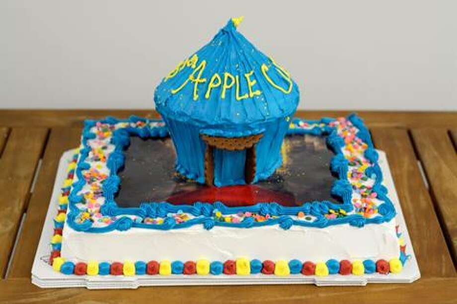 The official birthday cake of the Big Apple Circus features an 8-in. tall circus tent replica over a red carpet made of edible icing.Click through for a look at other fun Carvel cake designs >> Photo: Big Apple Circus, Contributed