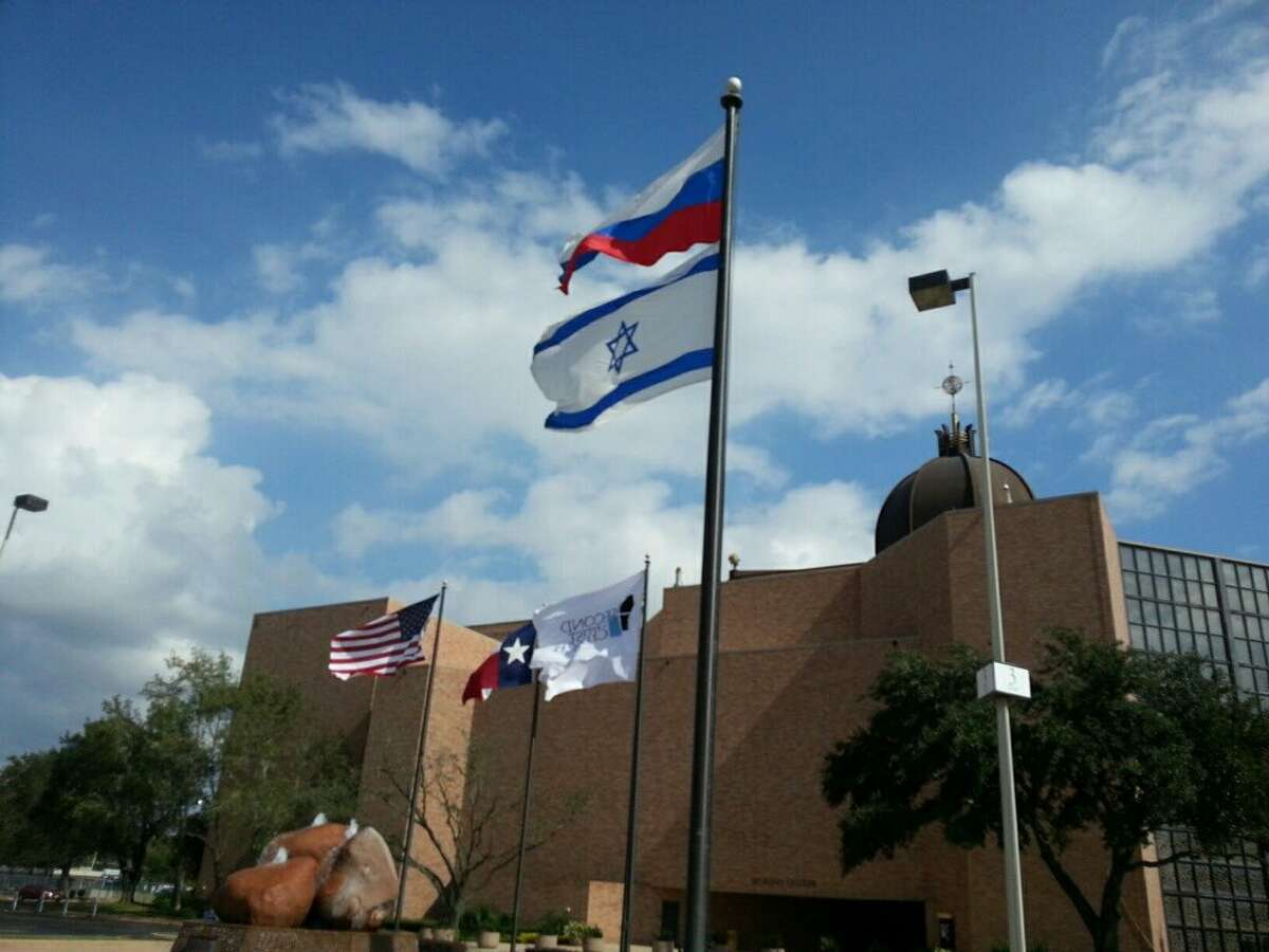 Houston's Second Baptist Church has drawn some criticism on Twitter over a photo showing it flying a Russian flag outside.