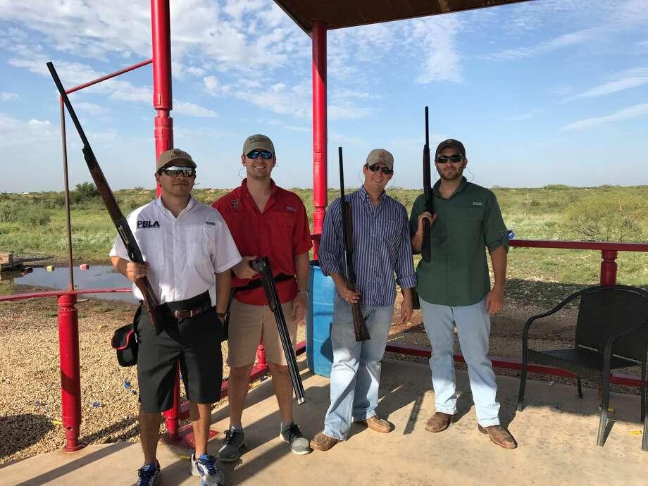 PBPA CLAY SHOOT: Justin Mendoza, from left, Brooks Sitka, Stephen Everett and Austin Adkins Photo: Courtesy Photo