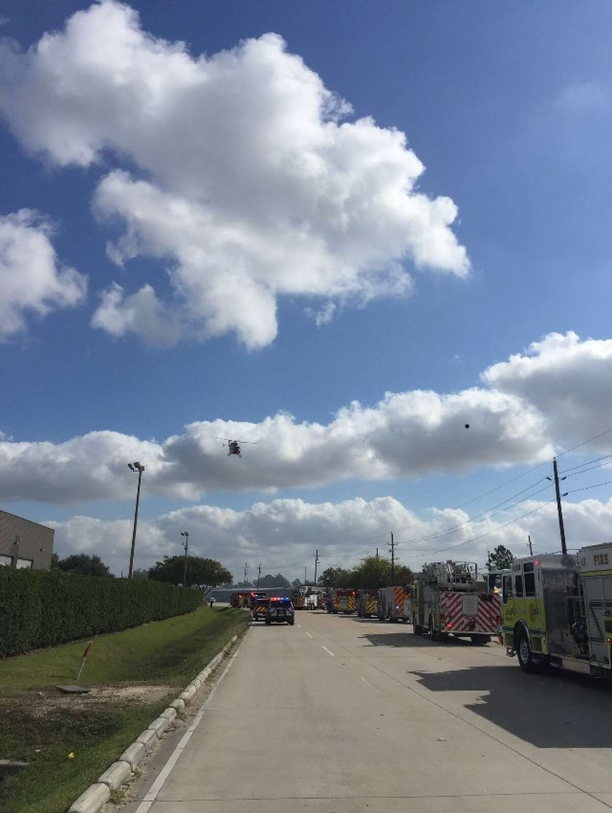 An employee was taken to the hospital by helicopter with severe burns Monday after an explosion at B.J. Hooker's, a North Harris County vodka distillery.
