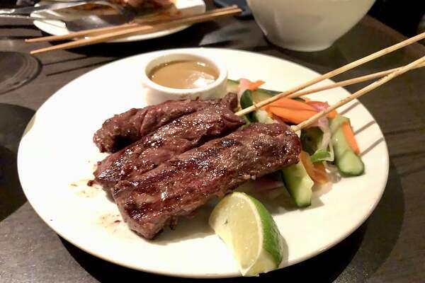 E&: Steak sate with peanut sauce