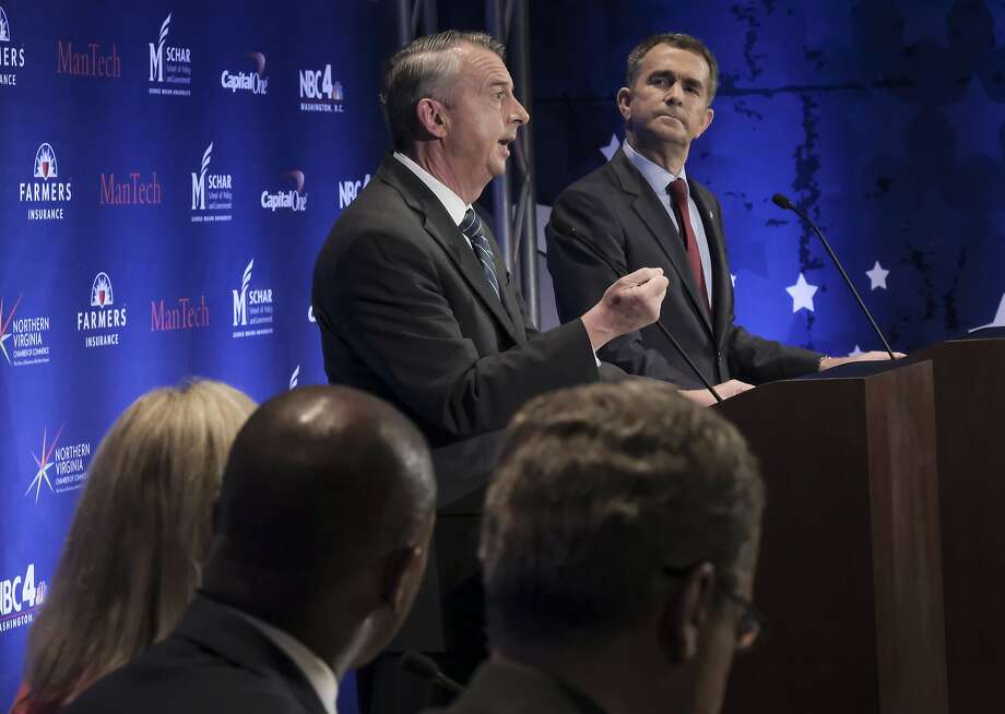 Republican Ed Gillespie (left) and Democrat Ralph Northam are in a close race for Virginia governor. Photo: Bonnie Jo Mount, Associated Press