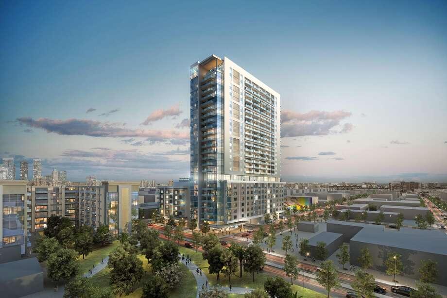 Rendering of Caydon tower planned in Midtown.