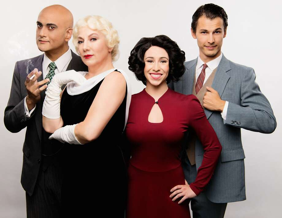 DC Scarpelli (left), Laurie Strawn, Samantha Rose, Nikita Burshteyn. Photo: Ben Krantz Studio, Bay Area Musicals