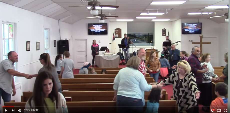 First Baptist Church of Sutherland Springs uploaded each of their services to YouTube. This is a screengrab from an Oct. 29, 2017 service, a week before Devin Kelley killed 26 parishioners and wounded 20 more.