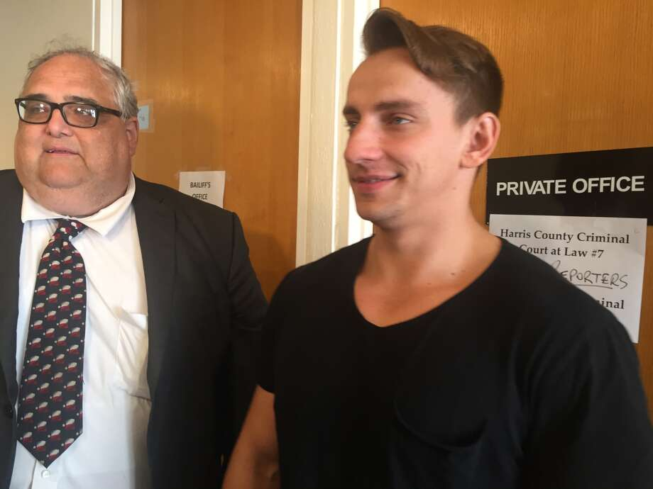 Vitaly Zdorovetskiy appears in a Harris County courtroom with his attorney, Tom Zakes.