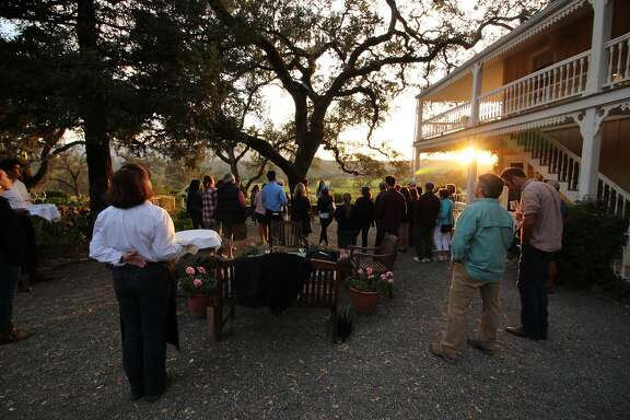 The sun sets over Beltane Ranch in Glen Ellen.